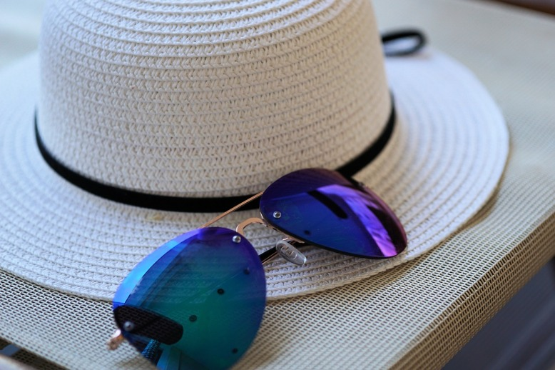 Sunglasses and Sun Hat